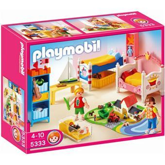 playmobil 5333 chambre des enfants avec lits d cor s playmobil achat prix fnac. Black Bedroom Furniture Sets. Home Design Ideas