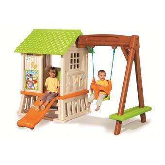 winnie l 39 ourson maison de jardin smoby cabane avec. Black Bedroom Furniture Sets. Home Design Ideas