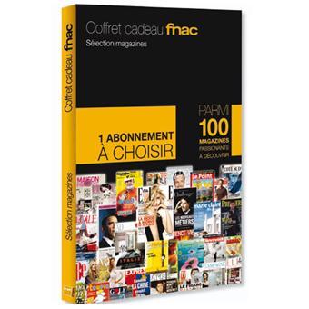 coffret cadeau fnac abonnement magazine coffrets cadeaux achat prix fnac. Black Bedroom Furniture Sets. Home Design Ideas