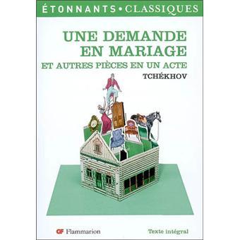 une demande en mariage - La Demande En Mariage Tchekhov