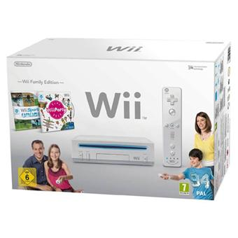 console wii blanche nintendo pack wii family edition console de jeux de salon acheter sur. Black Bedroom Furniture Sets. Home Design Ideas