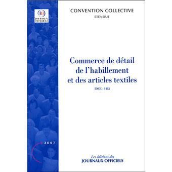 convention collective du commerce de detail de l habillement