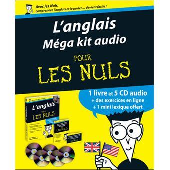 pour les nuls m ga kit audio comprenant 5 cd l 39 anglais pour les nuls gail brenner livre. Black Bedroom Furniture Sets. Home Design Ideas