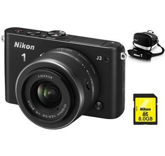 votre Pack Fnac : Nikon 1 J3 Noir Mat + Obj. 1 Nikkor CX VR 10 30 mm