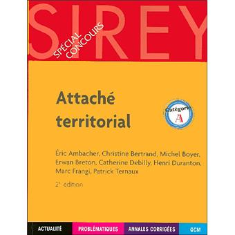Attach territorial broch christine bertrand livre - Grille attache principal territorial ...