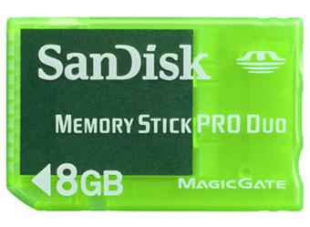 SanDisk Memory Stick Pro Duo Gaming  Go pour PSP et PS a w