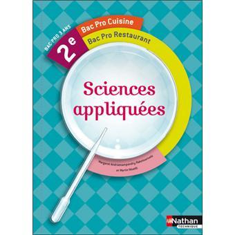 Sciences appliqu es 2nde bac pro cuisine et restaurant - Cours sciences appliquees bac pro cuisine ...