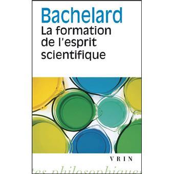 la formation de l esprit scientifique pdf