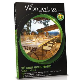 Wonderbox coffret 1 nuit s jour gourmand t ble d 39 h tes - Wonderbox sejour prestige table d hotes ...