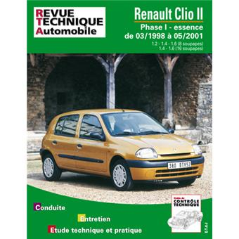revue technique automobile 620 2 clio 2 essence 1 2. Black Bedroom Furniture Sets. Home Design Ideas