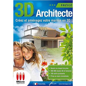 3d architecte facile dvd rom achat prix fnac for Logiciel gratuit maison 3d facile