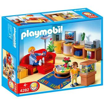 playmobil 4282 salle de s jour playmobil achat prix fnac. Black Bedroom Furniture Sets. Home Design Ideas