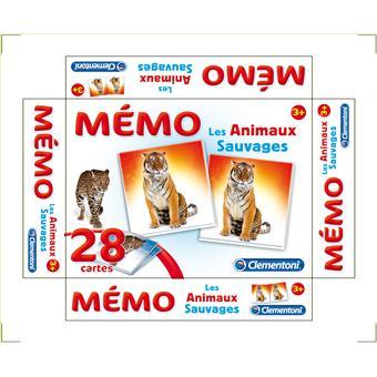 Mémo Les Animaux Sauvages Clementoni : King Jouet, Jeux de réflexion