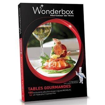 Wonderbox coffret tables gourmandes michelin coffrets cadeaux achat prix fnac - Tables gourmandes wonderbox ...
