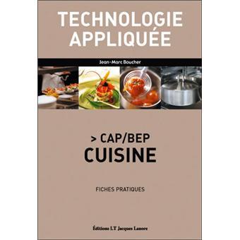 technologie appliquee cap bep cuisine fiches pratiques