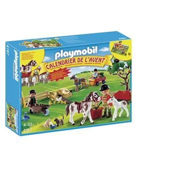 playmobil 4167 calendrier de l 39 avent ferme questre playmobil achat prix fnac. Black Bedroom Furniture Sets. Home Design Ideas