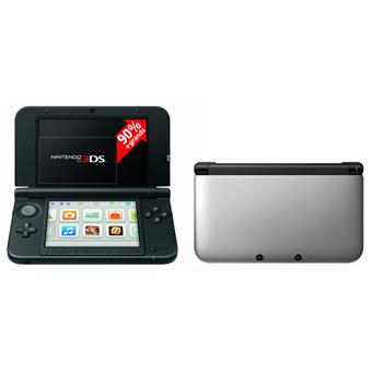 console nintendo 3ds xl argent noire console de jeux. Black Bedroom Furniture Sets. Home Design Ideas