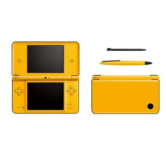 console dsi xl jaune nintendo console de jeux portable. Black Bedroom Furniture Sets. Home Design Ideas
