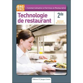Technologie de restaurant 2nde bac pro csr broch for Technologie cuisine bac pro
