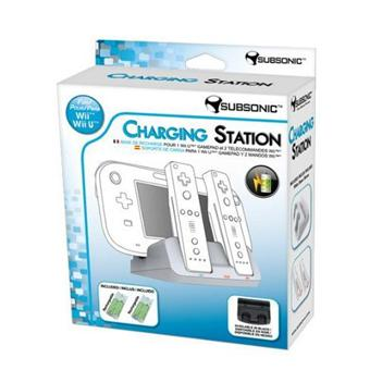 station de charge subsonic blanche pour nintendo wii u. Black Bedroom Furniture Sets. Home Design Ideas