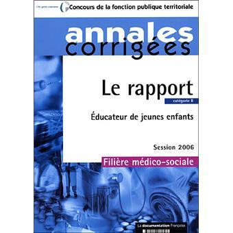 Educateur de jeunes enfants cat gorie b le rapport edition for Educateur de jeunes enfants
