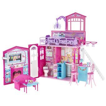 mattel maison glamour barbie maison de poup e acheter sur. Black Bedroom Furniture Sets. Home Design Ideas