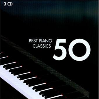 piano 50 best compilation classique cd album. Black Bedroom Furniture Sets. Home Design Ideas