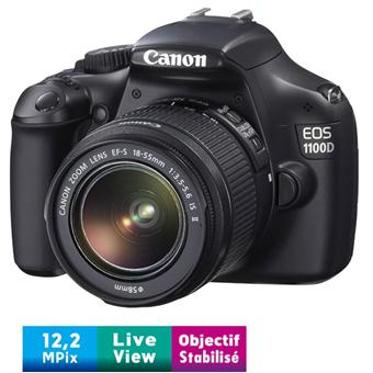 canon eos 1100d noir obj canon ef s is stabilis 18 55 mm f 3 5 5 6 appareil photo. Black Bedroom Furniture Sets. Home Design Ideas