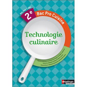 technologie culinaire 2nde bac pro cuisine livre de l