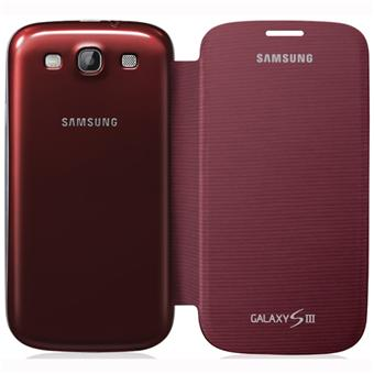 samsung coque rabat pour galaxy s3 rouge bordeaux. Black Bedroom Furniture Sets. Home Design Ideas
