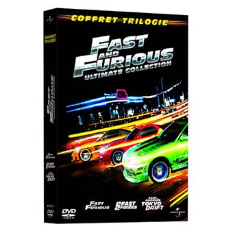 fast and furious coffret trilogie ultimate collection dvd zone 2 rob cohen john. Black Bedroom Furniture Sets. Home Design Ideas
