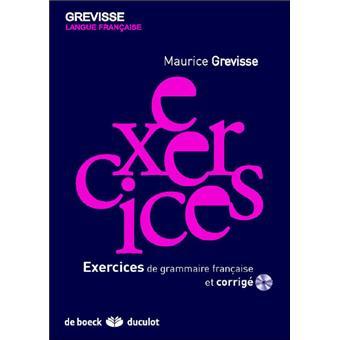 Exercices de grammaire française Corrigé des exercices de ...