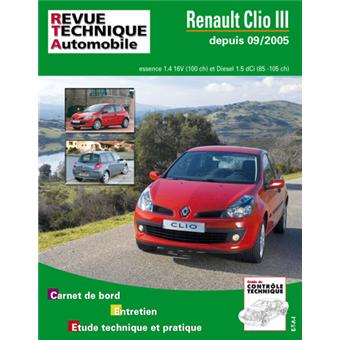 revue technique automobile b702 5 clio iii broch etai. Black Bedroom Furniture Sets. Home Design Ideas