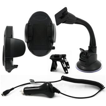 muvit pack voiture pour t l phones mobiles smartphones microusb accessoire voiture pour. Black Bedroom Furniture Sets. Home Design Ideas