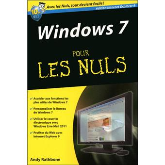 windows 7 pour les nuls poche andy rathbone achat livre achat prix fnac. Black Bedroom Furniture Sets. Home Design Ideas