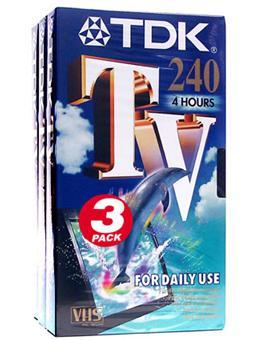 tdk e240 tv pack cassette vhs pour magn toscope achat. Black Bedroom Furniture Sets. Home Design Ideas