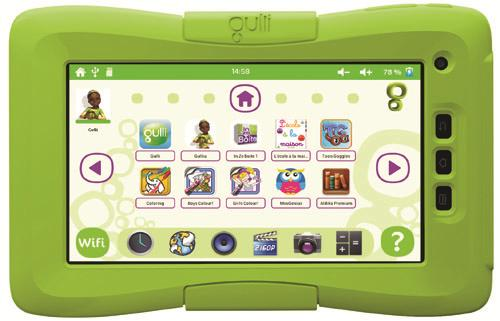 tablette tactile enfant by gulli une technologie kurio. Black Bedroom Furniture Sets. Home Design Ideas