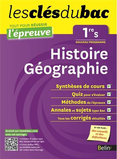 examen de géographie 1ère secondaire