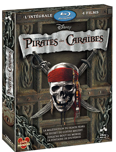 pirates des cara bes coffret de la tetralogie blu ray. Black Bedroom Furniture Sets. Home Design Ideas