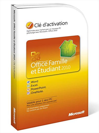 microsoft office famille et tudiant 2010 1 pc dvd rom acheter sur. Black Bedroom Furniture Sets. Home Design Ideas