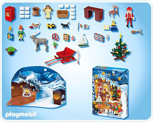Playmobil 4161 Calendrier de l'Avent Atelier du Père Noel - Playmobil ...