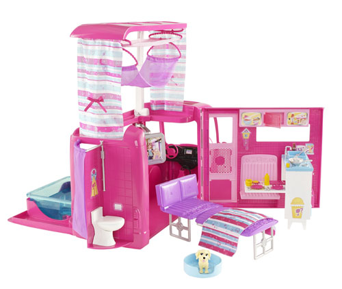 mattel barbie camping car accessoire poup e. Black Bedroom Furniture Sets. Home Design Ideas