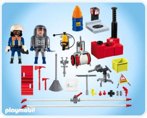 Playmobil 4825 pompiers et mat riel d 39 incendie playmobil - Playmobil de pompier ...