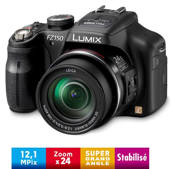 Panasonic lumix dmc fz150 ef k noir appareil photo for Mp4 qui fait appareil photo