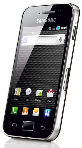 Samsung Galaxy Ace Face Noire Dos Blanc a w