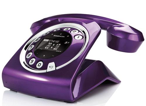 Sagemcom sixty solo prune t l phone sans fil for Telephone interieur sans fil