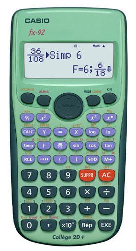 comment regler sa calculette casio fx-92