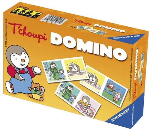 Domino sous Licence T´Choupi. Des images de la vie quotidienne de T´Choupi :T´Choupi dans son bain, T´Choupi et son papa, T´Choupi et sa maman, T´Choupi et sa petite soeur.