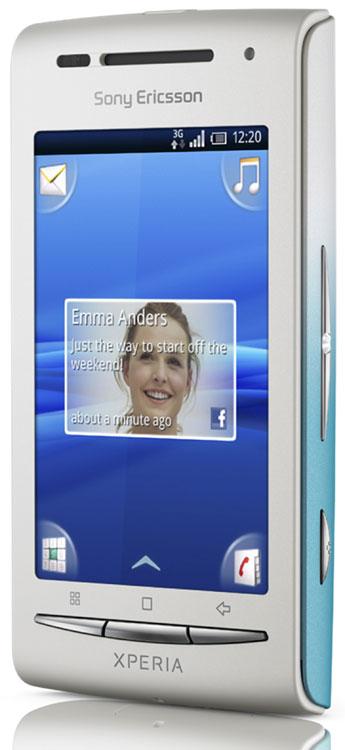 Smartphone quadri-bande, EDGE, HSDPA, écran 3 , Bluetooth 2.1 stéréo, WiFi, fonction GPS, appareil photo 3,2 Megapixels, lecteur MP3, lecture/enregistrement vidéo, radio FM Emplacement pour carte microSD (carte 2 Go fournie)