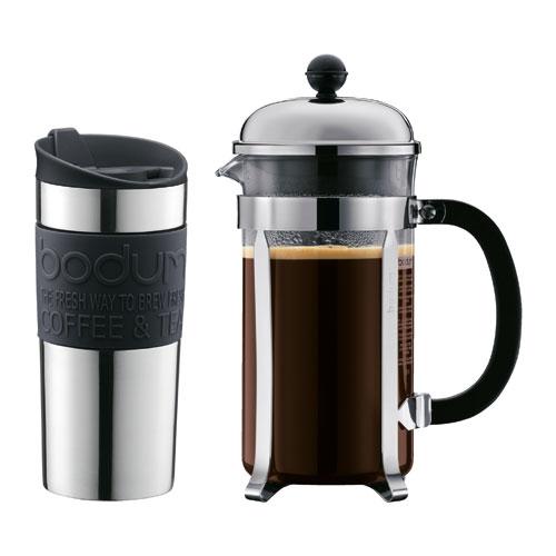 Bodum - K11068-01 - Coffret cafetière à Piston + Mug pour 66€